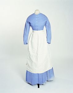 servant's dress 1865-1870