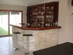 Stone cladded bar front