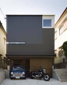 「狭小住宅 ガレージ」の画像検索結果 Residential Architecture, Contemporary Architecture, Interior Architecture, Japan Modern House, Modern Townhouse, Mews House, Compact House, Small Home Offices, Small Modern Home