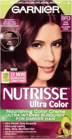 Garnier Nutrisse Ultra Hair Color, Intense Burgundy, Red