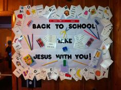 It's really hard to find good Church Bulletin Boards! I seen something on this line. I jazzed it up a bit!