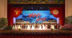 제1차 전당초급당위원장대회 참가자들 예술공연들을 관람