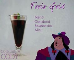A Collection of Disney Themed Cocktails - Disney Memes via: Cocktails by Cody