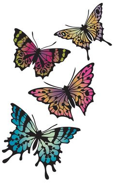 Papillon Set Butterfly Stencils for Wall by royaldesignstencils