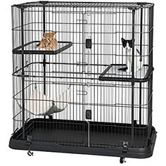 Amazon.com : Prevue Pet Products 7501 Deluxe Cat Home with 3 Levels, Black : Pet Supplies