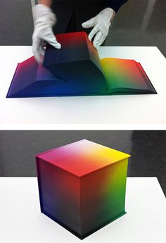 It's a book that features the full color gradient in 3,000+ pages.. amazing. RGB Colorspace Atlas by Tauba Auerbach
