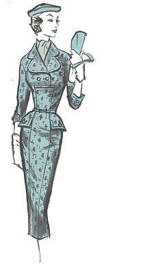 Vintage vestiti Moda anni 50