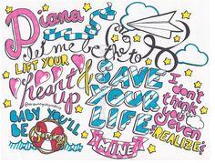 One Direction: Diana Lyrics Art!