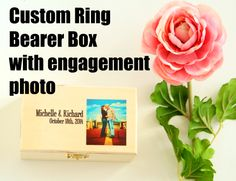 Ring Bearer Box. Customize with your engagement photo. From Little Wee Shop.https://www.etsy.com/shop/LittleWeeShop?ref=si_shop