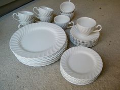 White Ironstone Dinnerware / Johnson Brothers / by assemblage333, $85.00