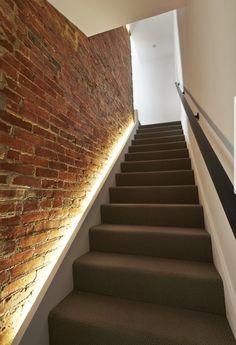 Soft stair lighting!