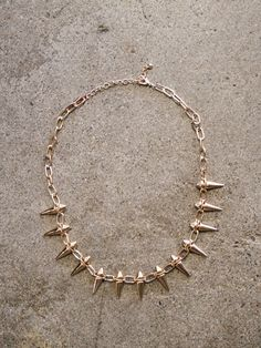 chunky chain necklace spiked studs | shopcuffs.com, $18
