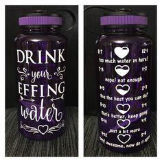 Drink your EFFING water bottle - work out motivational intake tracker by CraftyLittleBug on Etsy