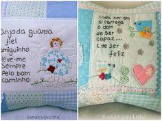 Em agosto do ano passado eu fiz uma postagem  sobre a arte com tecidos criada por Samariquinha - Micheline Matos . Como escrevi antes, e re...