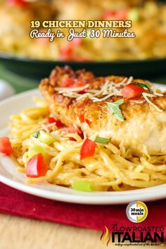 Chicken Parmesano Vino Bianco- The Best Ever 25 Skillets and Casseroles Pot Pasta, Pasta Dishes, Food Dishes, Main Dishes, Potato Dishes, Pasta Spaghetti, Pasta Bake, Great Recipes, Dinner Recipes