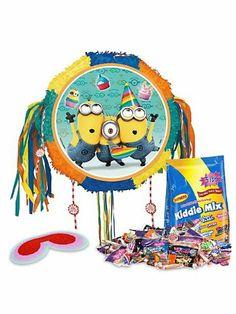 Despicable Me birthday party ideas. Image: Despicable Me Drum Pinata Kit (Each)