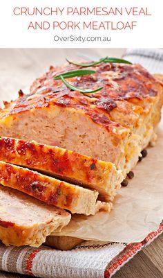 Crunchy Parmesan Veal and Pork Meatloaf - Give your usual meatloaf ...