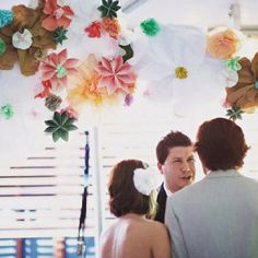 Get married under origami flowers