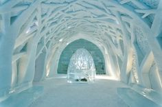 Ice Hotel -  Sweden. I will spend a night in an ice hotel at some point in my life