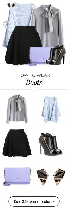 """Blouse with bow"" by alinka-happily on Polyvore featuring Chicwish, Nak Armstrong, Avelon, Kate Spade and Tom Ford"