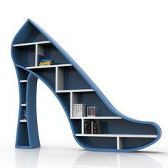Libreria moderna da parete Lady