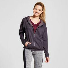 Women's Tech Fleece Full Zip Hoodie - Indigo Screen Heather Xxl - C9 Champion