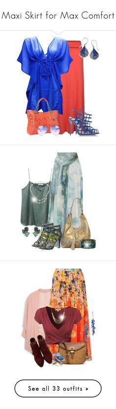 """Maxi Skirt for Max Comfort"" by jodilambdin ❤ liked on Polyvore featuring Ally Fashion, Natures Jewelry, Alexandre Birman, Big Buddha, Matthew Williamson, ALDO, Sharif, Alexis Bittar, Lana and MANGO"