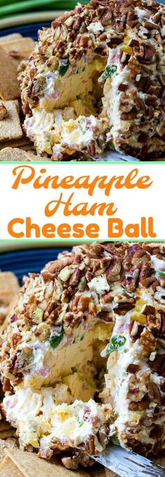 Pineapple and Ham Cheese Ball #ham #cheese #appetizers