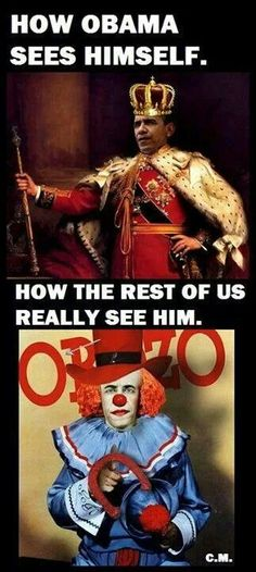 How Obama sees himself vs How the rest of the World sees him!