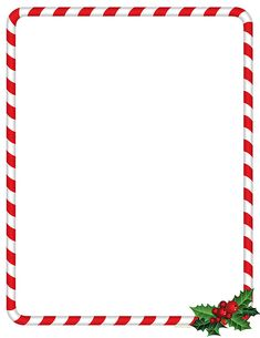 candy cane holly christmas stationery christmas letterhead christmas