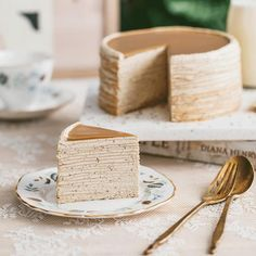 How to Make Lady M's Earl Grey Crepe Cake - Dessert aficionados may recognize the name Lady M as a French patisserie, famous for their delectabl - Tea Cakes, Food Cakes, Cupcake Cakes, Cupcakes, Beaux Desserts, No Bake Desserts, Sweet Recipes, Cake Recipes, Dessert Recipes