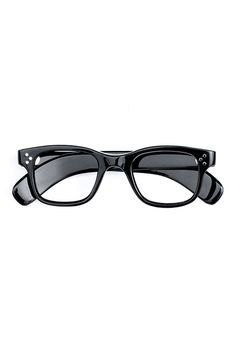 a28e8cfcb8 1960s FRANCE VINTAGE EYEGLASS 3 STAR DOT FDR STYLE BLACK - OPT-066 -  Phaeton Smart Clothes Online Store