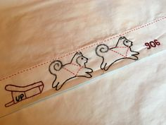 Sled Dog Pillowcase Handmade 906 UP Embroidered by AnniesUPAttic