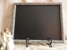 Framed Chalk board framed chalkboard black by PegsSecondChance, $35.00