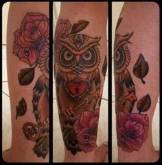 Tatuagens criativas de corujas