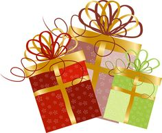 2013 Christmas Clip Art: Three Pretty Gifts