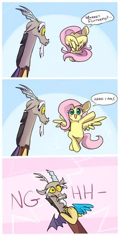 MLP: here i am! by keterok.deviantart.com on @deviantART /// He can't handle the cute!