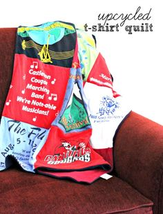 Upcycled T Shirt Quilt #ProjectRepat #ad