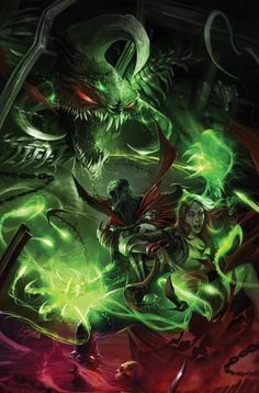 Violator vs Spawn by Francesco Mattina Comic Book Characters, Comic Character, Comic Books Art, Comic Art, Spawn Characters, Spawn Comics, Anime Comics, Image Comics, Marvel Art
