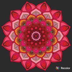 Mandala Doodle, Mandala Drawing, Mandala Painting, Dot Painting, Doodle Art, Coloring Books, Coloring Pages, Home Music, Fractal Art
