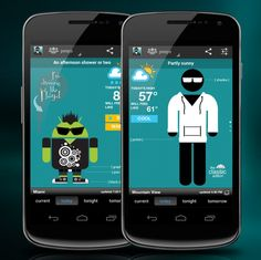 The Swackett weather app combines forecasts, fashion, and famous people to make a fun twist on what could be a very boring app.