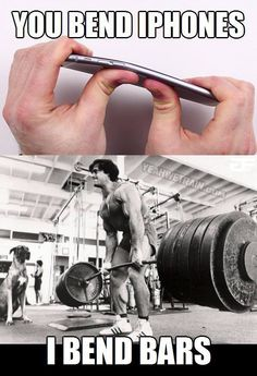 You bend an #iphone, I bend #bars! #fitmotivation #iphone6 #fun