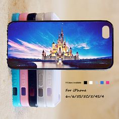 Disney Castle Phone Case For iPhone 6 Plus For iPhone 6 For iPhone 5/5S For iPhone 4/4S For iPhone 5C-5 Colors Available