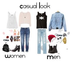 Casual Oufits by dellaila on Polyvore featuring Banjo & Matilda, AG Adriano Goldschmied, Dr. Martens, Charlotte Russe, PARENTESI, Versus, Swatch, David Yurman, Bling Jewelry and Volcom