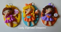 cameos with fimo dolls and sweets
