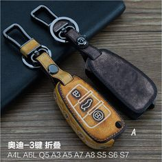 Cheap leather car key, Buy Quality leather key fob case directly from China leather key fob cover Suppliers: Leather Car Key fob case cover wallet for Audi A3 A4 A6 A8 A6L R8 Q5 Q7 TT A5 A7 A4L A1 Q3 RS4 RS5 Keychain Rings key holder bag
