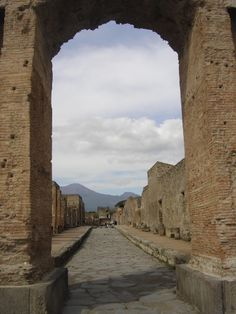 arch way | Pompeii Street Scene with Arch