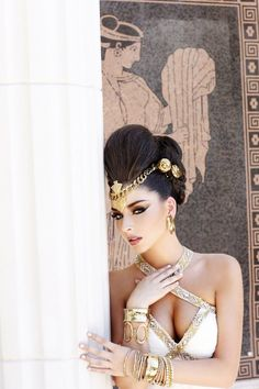 "Miss New Hampshire USA 2012 - ""Gardens of Goddess"" photo shoot by Fadil Berisha at Caesar's Palace Las Vegas Hotel & Casino pool."