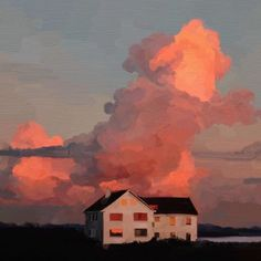 Painting Inspiration, Art Inspo, Landscape Art, Landscape Design, House Landscape, Landscape Paintings, Landscape Borders, Landscape Fabric, Landscape Architecture