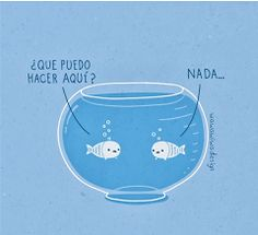 "Spanish jokes for kids, chistes visuales. Spanish words: word play ""nada."""